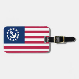 Etiqueta De Bagagem Tag da bagagem da bandeira do iate dos Estados