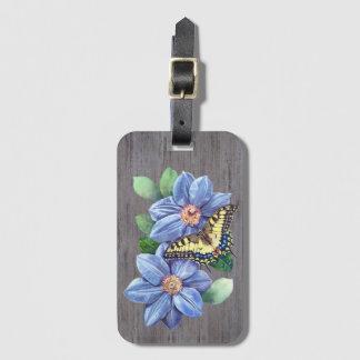 Etiqueta De Bagagem Tag da bagagem da borboleta da aguarela