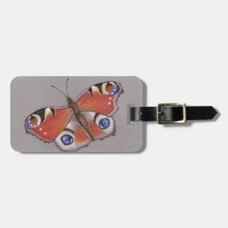 Etiqueta De Bagagem Tag da bagagem da borboleta de pavão