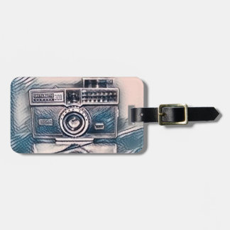 Etiqueta De Bagagem Tag da bagagem da câmera do vintage