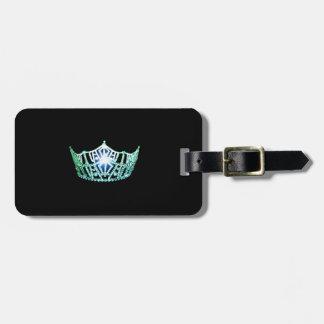 Etiqueta De Bagagem Tag da bagagem da coroa do Aqua da senhorita