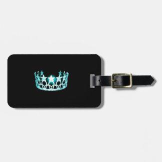 Etiqueta De Bagagem Tag da bagagem da coroa do Aqua da senhorita EUA