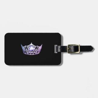 Etiqueta De Bagagem Tag da bagagem da coroa do Lilac da senhorita