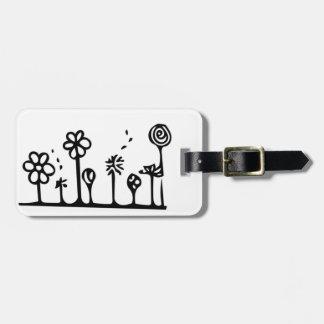 Etiqueta De Bagagem Tag da bagagem da flor