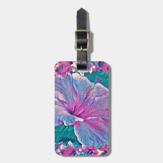 Etiqueta De Bagagem Tag da bagagem da flor #2 do hibiscus