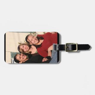 Etiqueta De Bagagem Tag da bagagem da foto com correia de couro