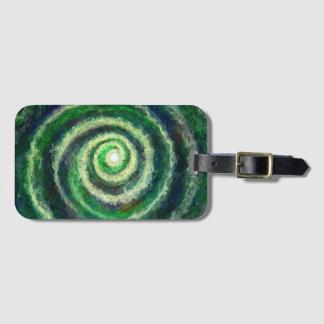 Etiqueta De Bagagem Tag da bagagem da galáxia espiral