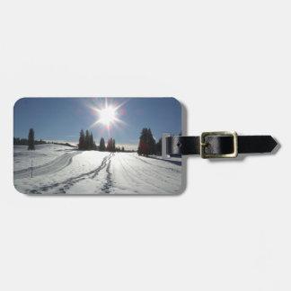 Etiqueta De Bagagem Tag da bagagem da paisagem do inverno