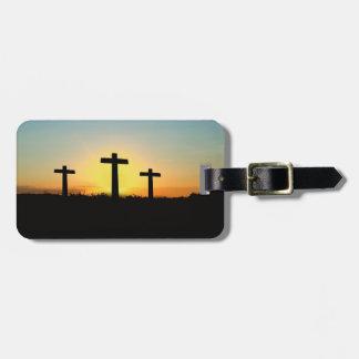 Etiqueta De Bagagem Tag da bagagem da páscoa da ressurreição do nascer