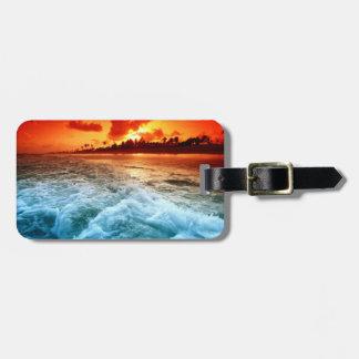 Etiqueta De Bagagem Tag da bagagem da praia