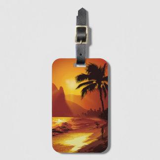 Etiqueta De Bagagem Tag da bagagem da praia de Copacabana