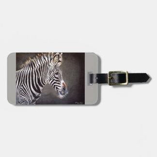 Etiqueta De Bagagem Tag da bagagem da zebra com correia de couro