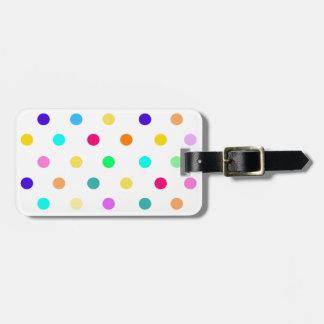 Etiqueta De Bagagem Tag da bagagem das bolinhas dos confetes do