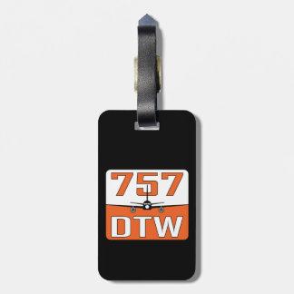 Etiqueta De Bagagem Tag da bagagem de 757 DTW