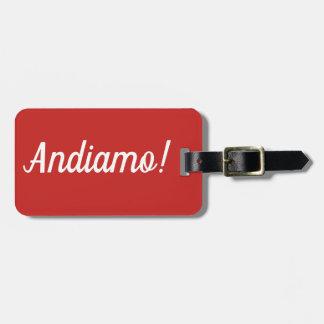 Etiqueta De Bagagem Tag da bagagem de Andiamo
