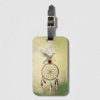 Etiqueta De Bagagem Tag da bagagem de Dreamcatcher da pomba