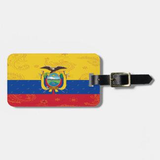 Etiqueta De Bagagem Tag da bagagem de Equador