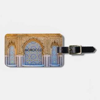 Etiqueta De Bagagem Tag da bagagem de Marrocos