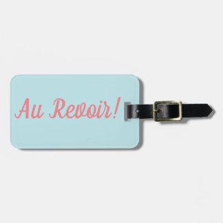 Etiqueta De Bagagem Tag da bagagem de Revoir do Au