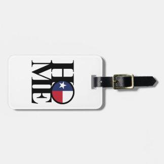 Etiqueta De Bagagem Tag da bagagem de Texas da CASA & do AMOR