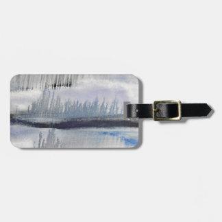 Etiqueta De Bagagem Tag da bagagem do abstrato do cinza azul