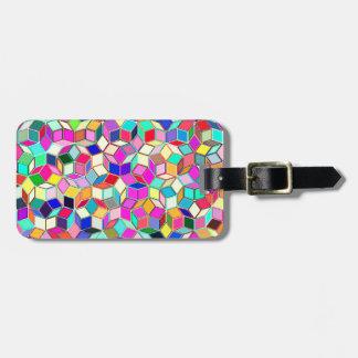 Etiqueta De Bagagem Tag da bagagem do azulejo de Penrose