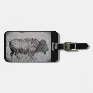 Etiqueta De Bagagem Tag da bagagem do bisonte americano