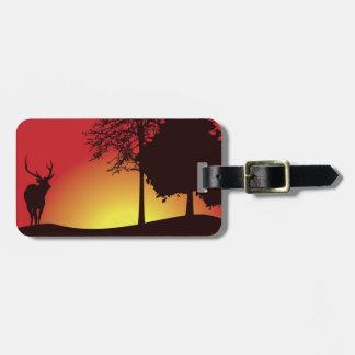 Etiqueta De Bagagem Tag da bagagem do caçador dos cervos