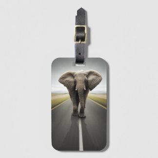 Etiqueta De Bagagem Tag da bagagem do camionista do elefante