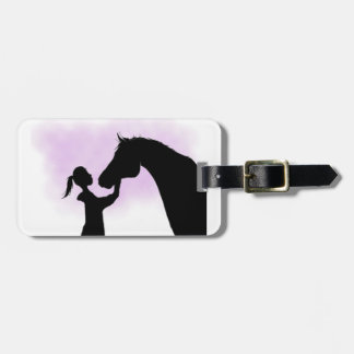 Etiqueta De Bagagem Tag da bagagem do cavalo da silhueta