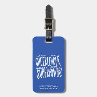 Etiqueta De Bagagem Tag da bagagem do cheerleader - personalizado