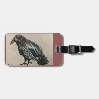 Etiqueta De Bagagem Tag da bagagem do corvo