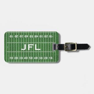 Etiqueta De Bagagem Tag da bagagem do design do campo de futebol
