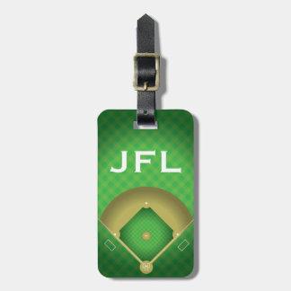 Etiqueta De Bagagem Tag da bagagem do design do diamante de basebol