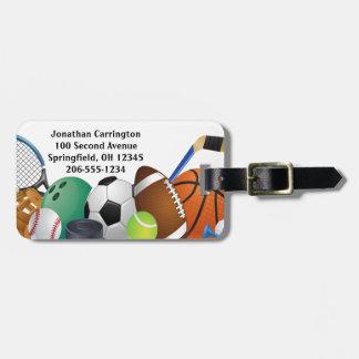 Etiqueta De Bagagem Tag da bagagem do design dos esportes
