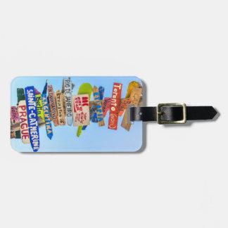 Etiqueta De Bagagem Tag da bagagem do destino