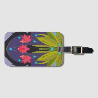 Etiqueta De Bagagem Tag da bagagem do Freesia com entalhe de cartão de