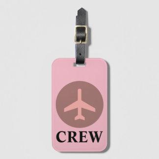 Etiqueta De Bagagem Tag da bagagem do grupo no rosa do vintage