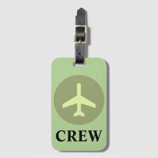Etiqueta De Bagagem Tag da bagagem do grupo no verde do vintage