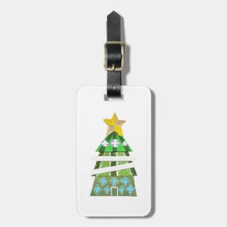 Etiqueta De Bagagem Tag da bagagem do hotel da árvore de Natal