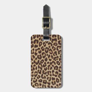 Etiqueta De Bagagem Tag da bagagem do impressão do leopardo