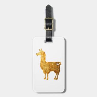 Etiqueta De Bagagem Tag da bagagem do lama do ouro