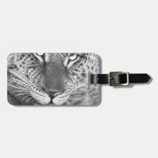 Etiqueta De Bagagem Tag da bagagem do leopardo