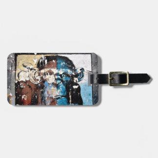 Etiqueta De Bagagem Tag da bagagem do macaco com correia de couro