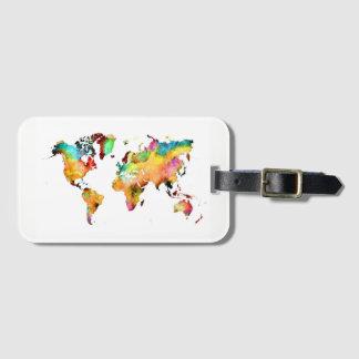 Etiqueta De Bagagem Tag da bagagem do mapa do mundo
