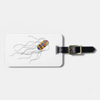 Etiqueta De Bagagem Tag da bagagem do micróbio do vitral