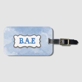 Etiqueta De Bagagem Tag da bagagem do monograma da aguarela
