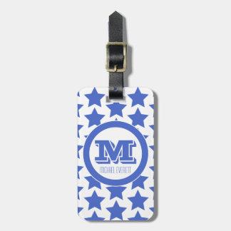 Etiqueta De Bagagem Tag da bagagem do monograma do teste padrão de