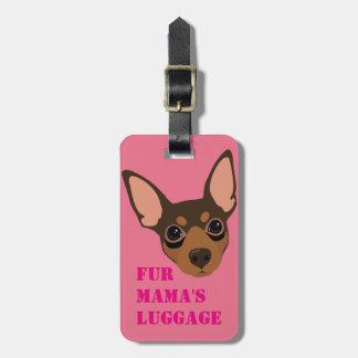 Etiqueta De Bagagem Tag da bagagem do Pin do minuto (chocolate)