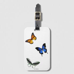 Etiqueta De Bagagem Tag da bagagem do teste padrão de borboleta